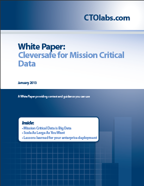 ctolabs publishes white paper on cleversafe for mission critical